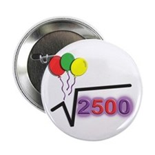 "Funny Square Root 50th Birthday © 2.25"" Button"