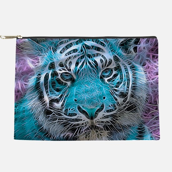 Crazy blue Tiger (C) Makeup Pouch