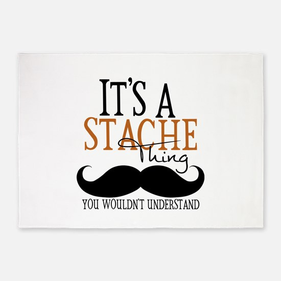 Its A Stache Thing 5'x7'Area Rug
