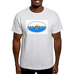 San Marino Oval Flag Ash Grey T-Shirt
