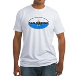 San Marino Oval Flag Fitted T-Shirt