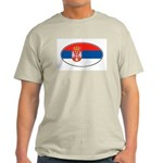 Serbian Oval Flag Ash Grey T-Shirt