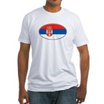 Serbian Oval Flag Fitted T-Shirt