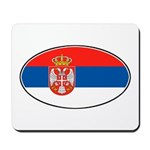 Serbian Oval Flag Mousepad