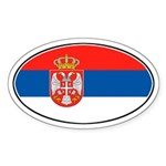 Serbian Oval Flag Oval Sticker