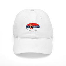 Serbian Oval Flag Baseball Cap