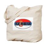 Serbian Oval Flag Tote Bag