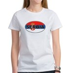 Serbian Oval Flag Women's T-Shirt