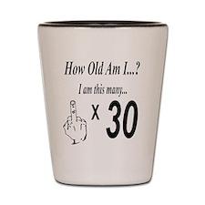 Cute 30th birthday celebration Shot Glass