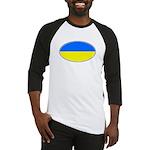 Ukrainian Oval Flag Baseball Jersey
