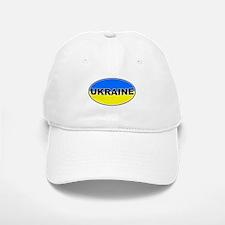 Ukrainian Oval Flag Baseball Baseball Cap