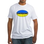 Ukrainian Oval Flag Fitted T-Shirt