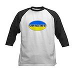 Ukrainian Oval Flag Kids Baseball Jersey