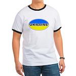 Ukrainian Oval Flag Ringer T