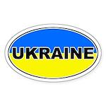 Ukrainian Oval Flag Oval Sticker