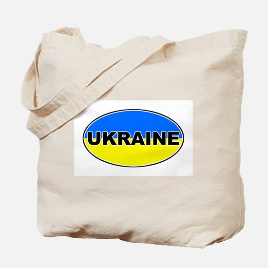 Ukrainian Oval Flag Tote Bag
