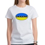 Ukrainian Oval Flag Women's T-Shirt