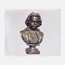 Beethoven Bust Front and Back Throw Blanket