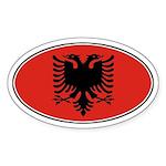 Alabanian Oval Flag Oval Sticker