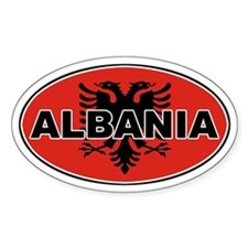 Alabanian Oval Flag Oval Decal