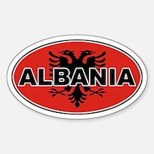 Alabanian Oval Flag Oval Decal