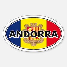 Andorran Oval Flag Oval Decal
