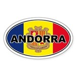 Andorran Oval Flag Oval Sticker