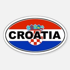 Croatian Oval Flag Oval Decal