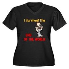 End of The World Survivor Women's Plus Size V-Neck