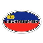 Liechtenstein Flag Oval Sticker