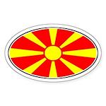 Macedonian Oval Flag Oval Sticker