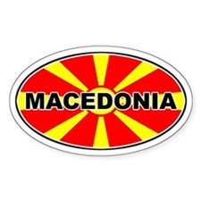 Macedonian Oval Flag Oval Decal