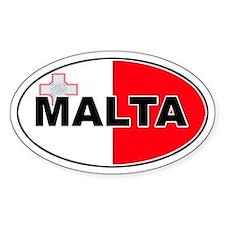Maltese Oval Flag Oval Decal