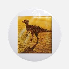 Pachycephalosaurus Dinosaur Ornament (Round)