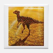 Pachycephalosaurus Dinosaur Tile Coaster
