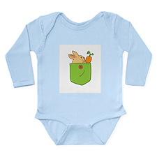 Cute Cartoon Bunny in Pocket Long Sleeve Infant Bo