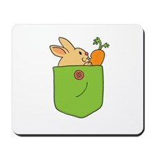 Cute Cartoon Bunny in Pocket Mousepad