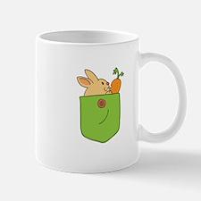 Cute Cartoon Bunny in Pocket Mug