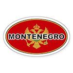 Montenegro Oval Flag Oval Sticker