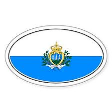 San Marino Oval Flag Oval Decal