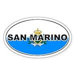 San Marino Oval Flag Oval Sticker