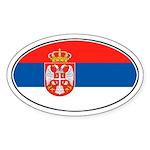 Serbian Oval Flag Oval Sticker