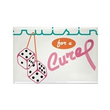 Cruisin' For A Cure Rectangle Magnet