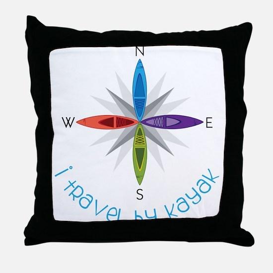 Travel By Kayak Throw Pillow