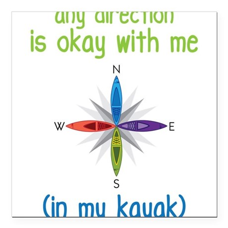 "Any Direction Square Car Magnet 3"" x 3"""