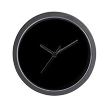 """Black on Black"" Wall Clock"