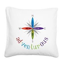 Adventurous Square Canvas Pillow