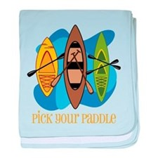 Pick Your Paddle baby blanket