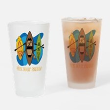 Pick Your Paddle Drinking Glass
