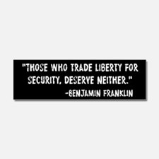Franklin Quote Liberty For Security Car Magnet 10